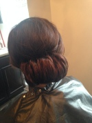 My beautiful hair-do for interview.